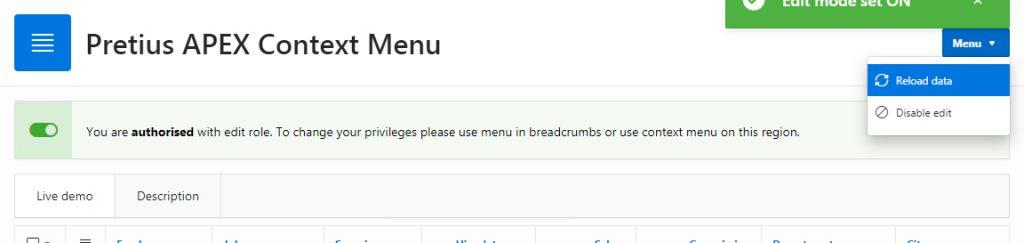 Breadcrumb button menu