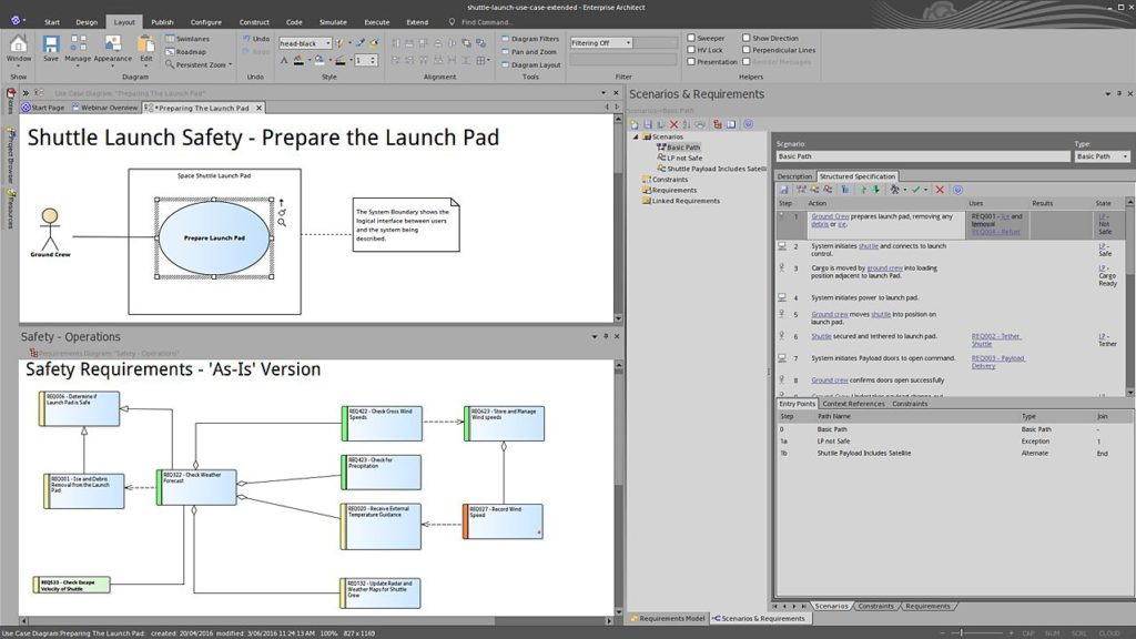 A screen showing Enterprise Architect.